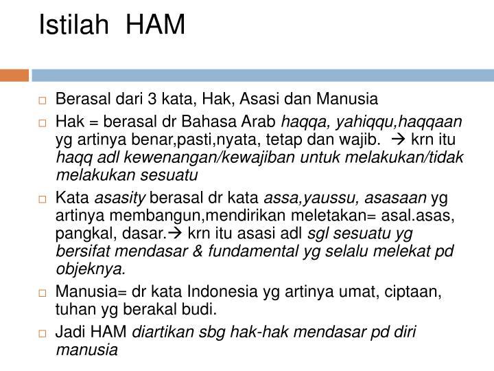 Istilah ham
