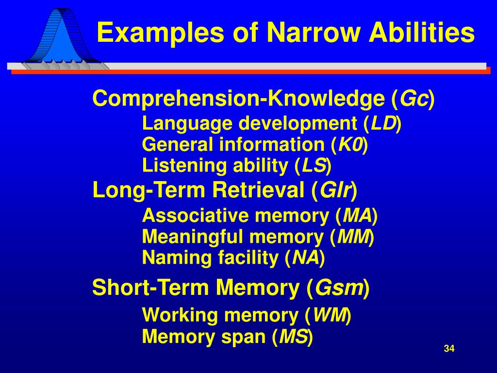 Examples of Narrow Abilities