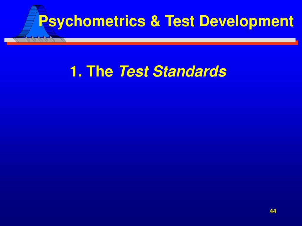 Psychometrics & Test Development