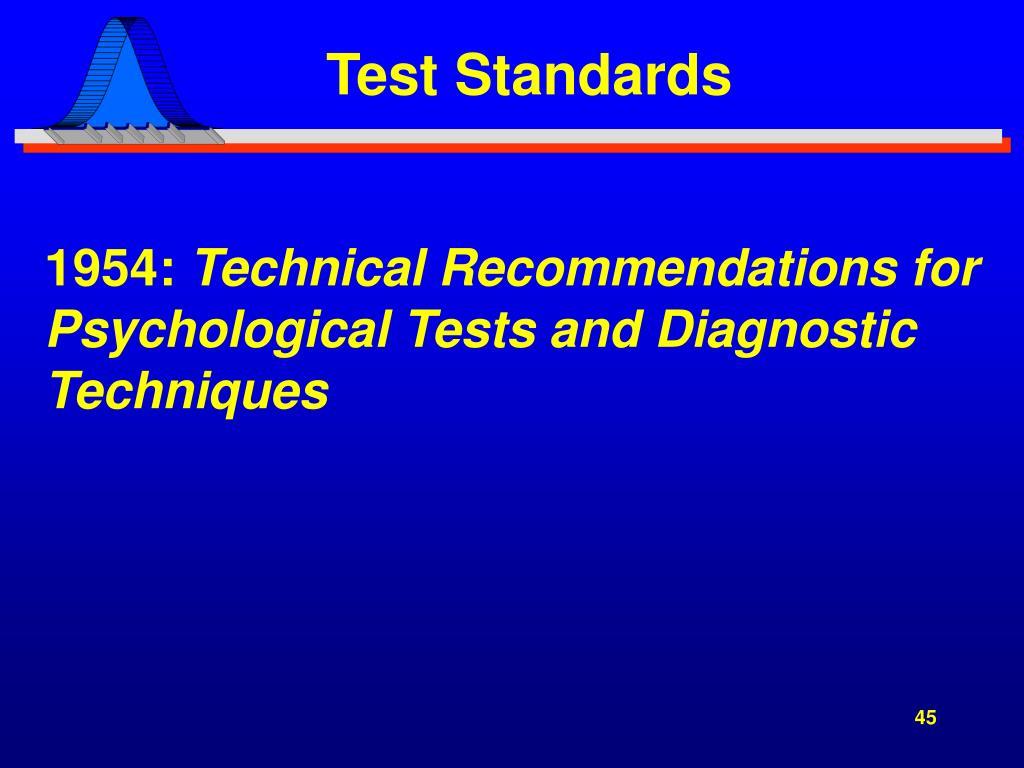 Test Standards