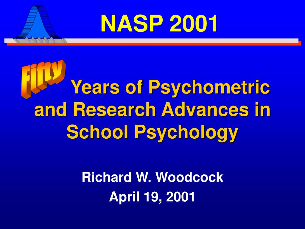 years of psychometric and research advances in school psychology l.