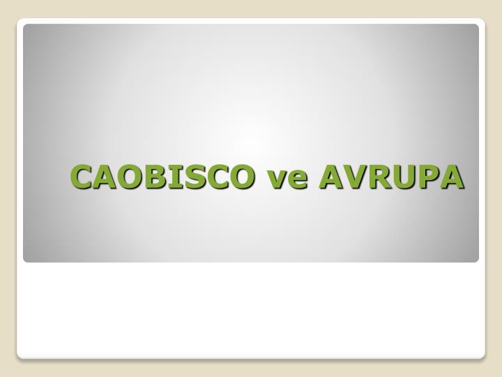CAOBISCO ve AVRUPA