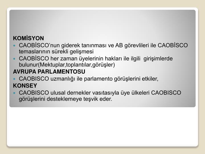 KOMİSYON
