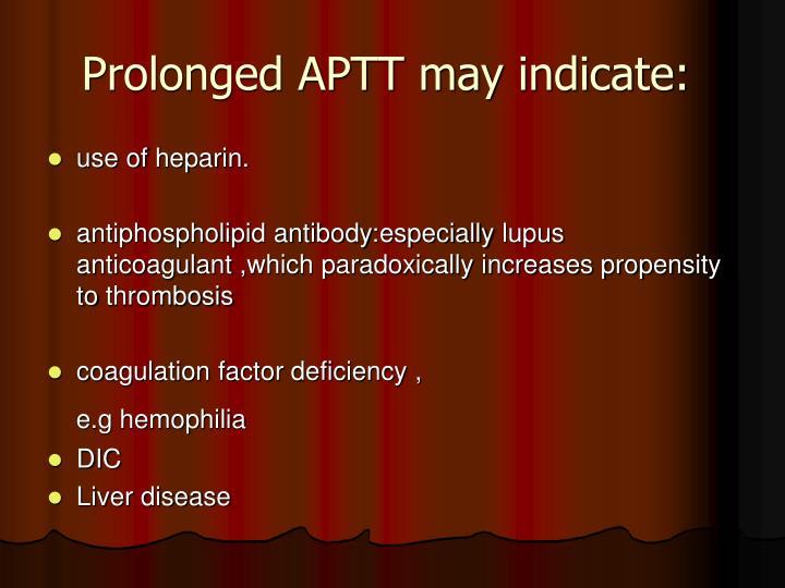 Prolonged APTT may indicate: