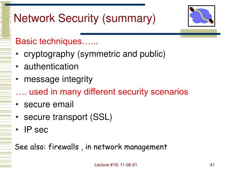 Network Security (summary)