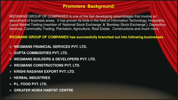 Promoters  Background: