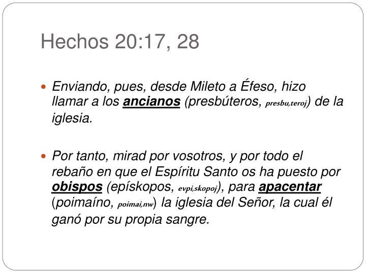 Hechos 20:17, 28