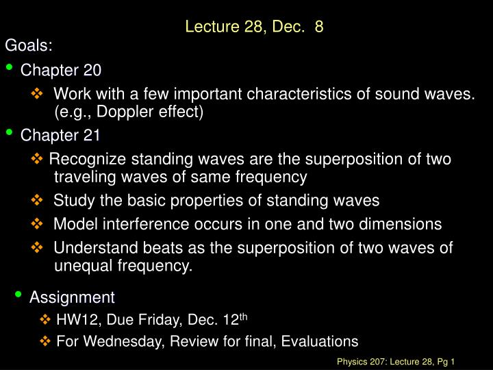 PPT - Lecture 28, Dec  8 PowerPoint Presentation - ID:1135477