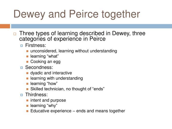 Dewey and Peirce together
