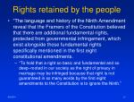 rights retained by the people1