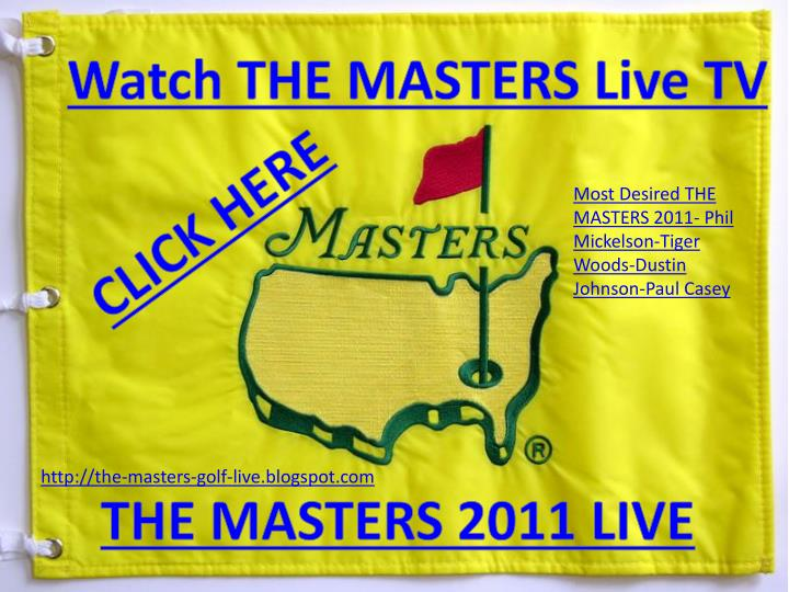 Watch THE MASTERS Live TV