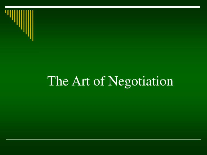 the art of negotiation n.