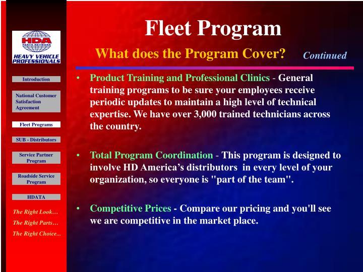 Fleet Program