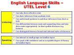 english language skills utel level 61