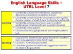 english language skills utel level 71