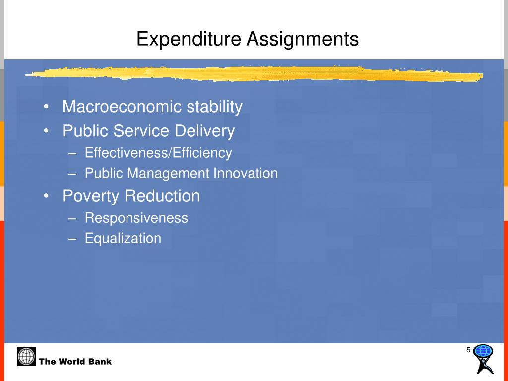 Expenditure Assignments
