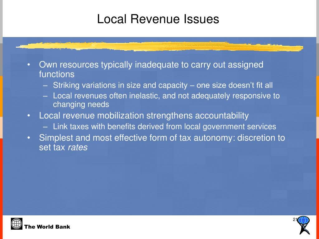 Local Revenue Issues