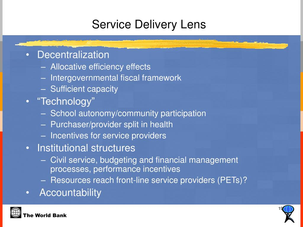 Service Delivery Lens