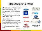 manufacturer make