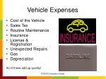 vehicle expenses