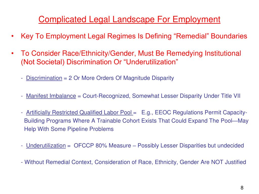 Complicated Legal Landscape For Employment
