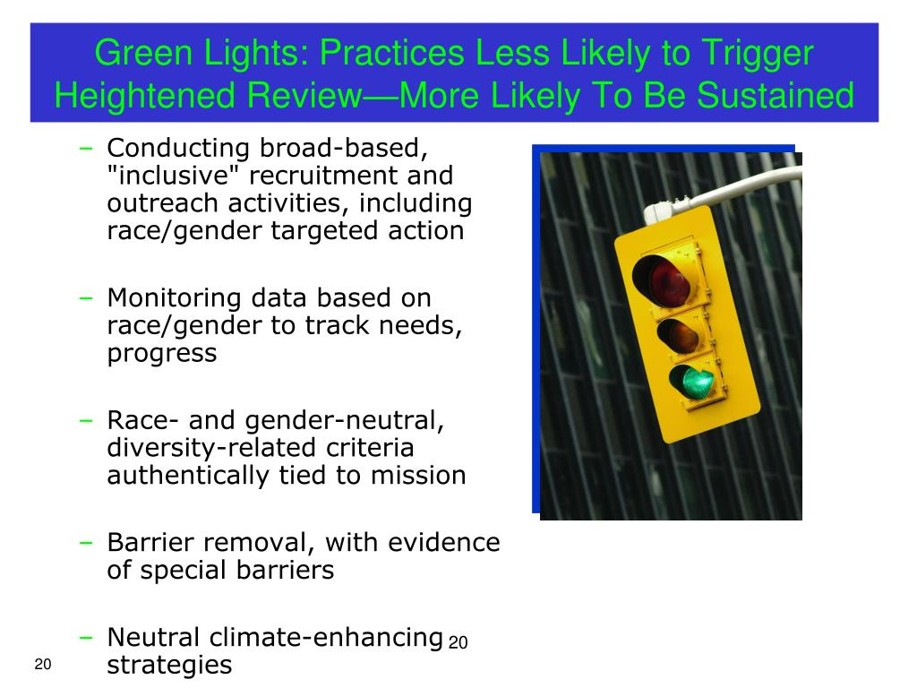 Green Lights: Practices Less Likely to Trigger Heightened Review—More Likely To Be Sustained