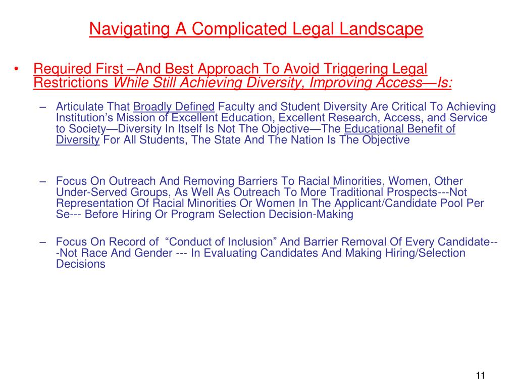 Navigating A Complicated Legal Landscape