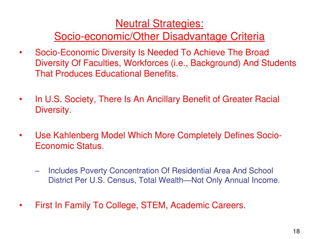 Neutral Strategies: