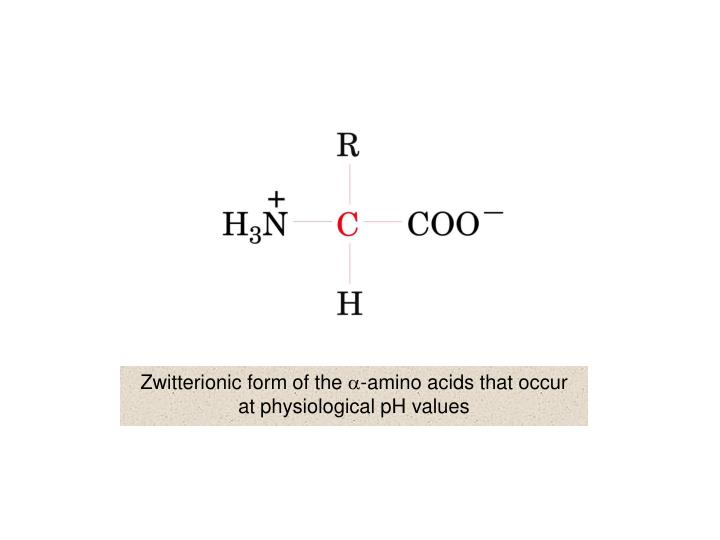 Zwitterionic form of the