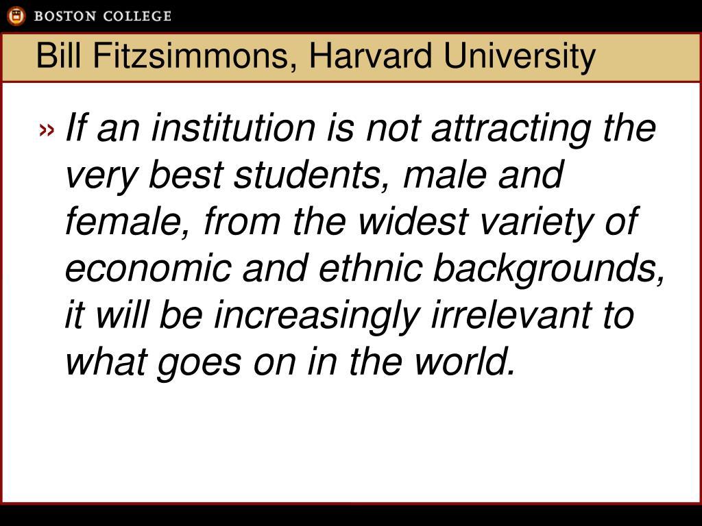 Bill Fitzsimmons, Harvard University