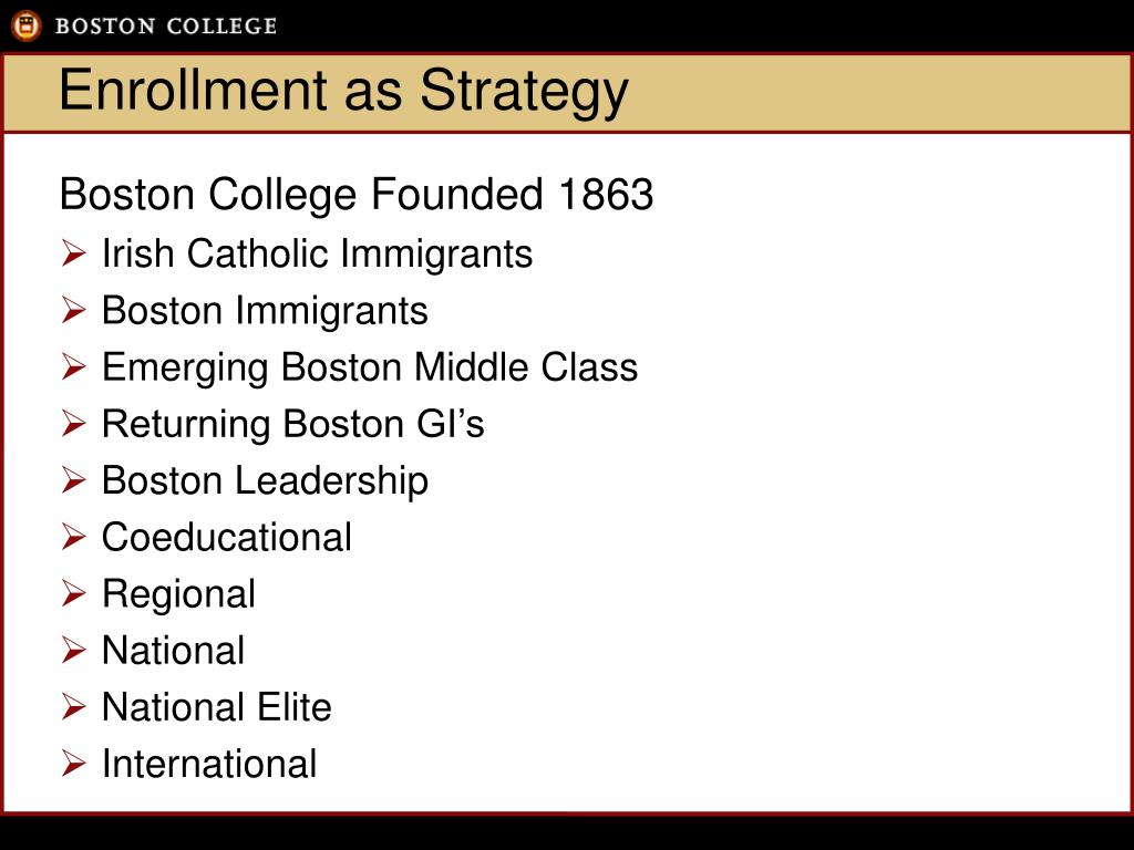 Enrollment as Strategy