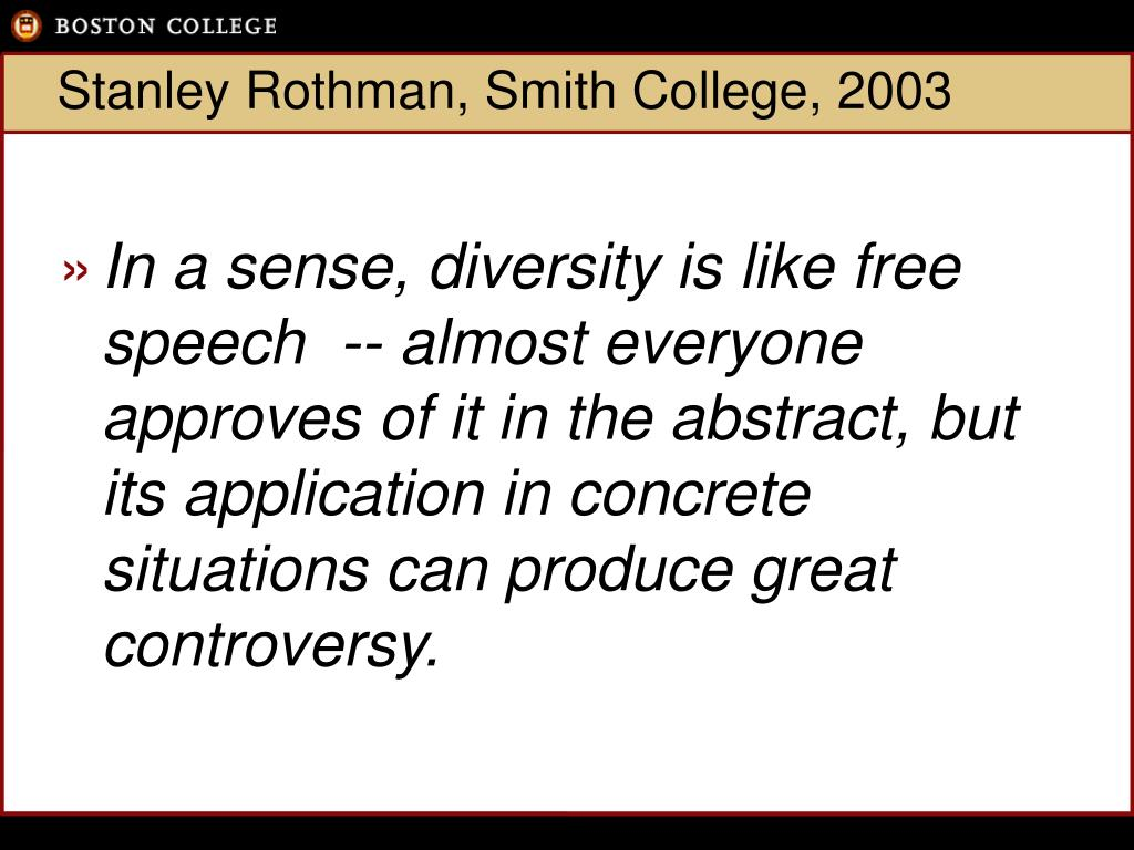 Stanley Rothman, Smith College, 2003