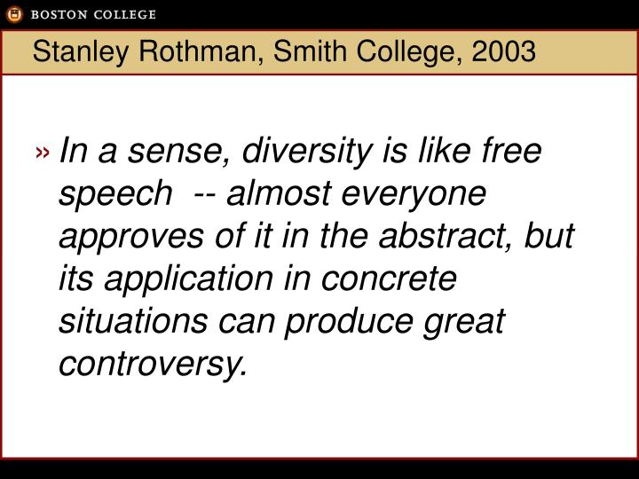 Stanley rothman smith college 2003