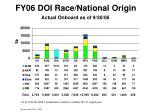 fy06 doi race national origin