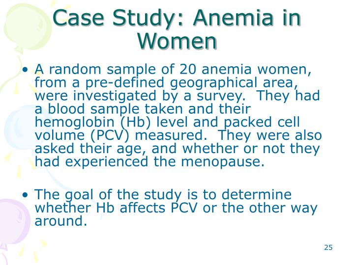 Case Study: Anemia in Women