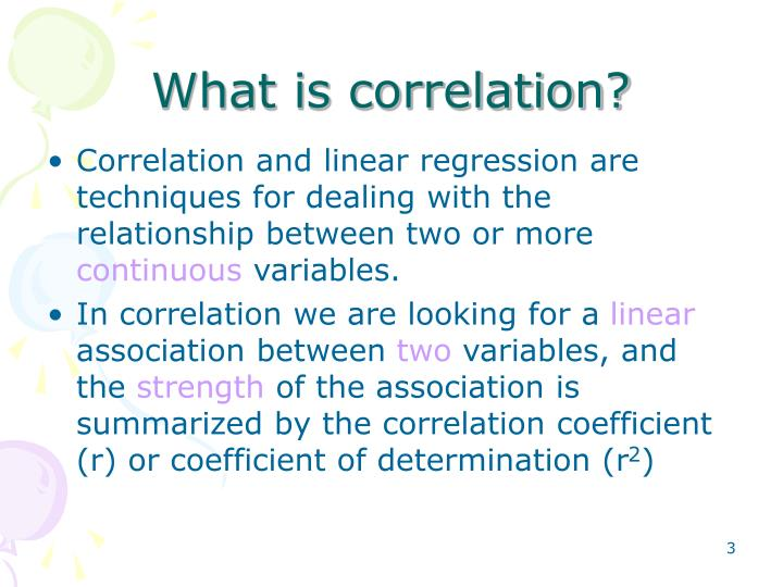 What is correlation