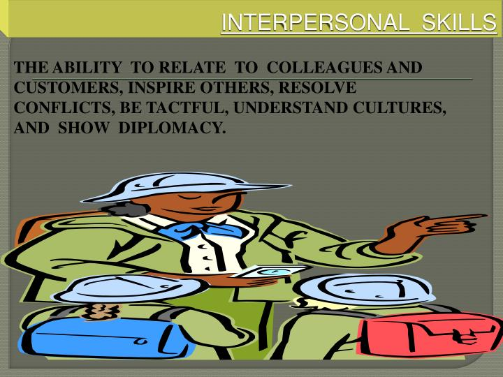 interpersonal skills n.