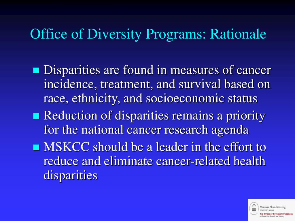Office of Diversity Programs: Rationale