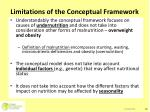 limitations of the conceptual framework