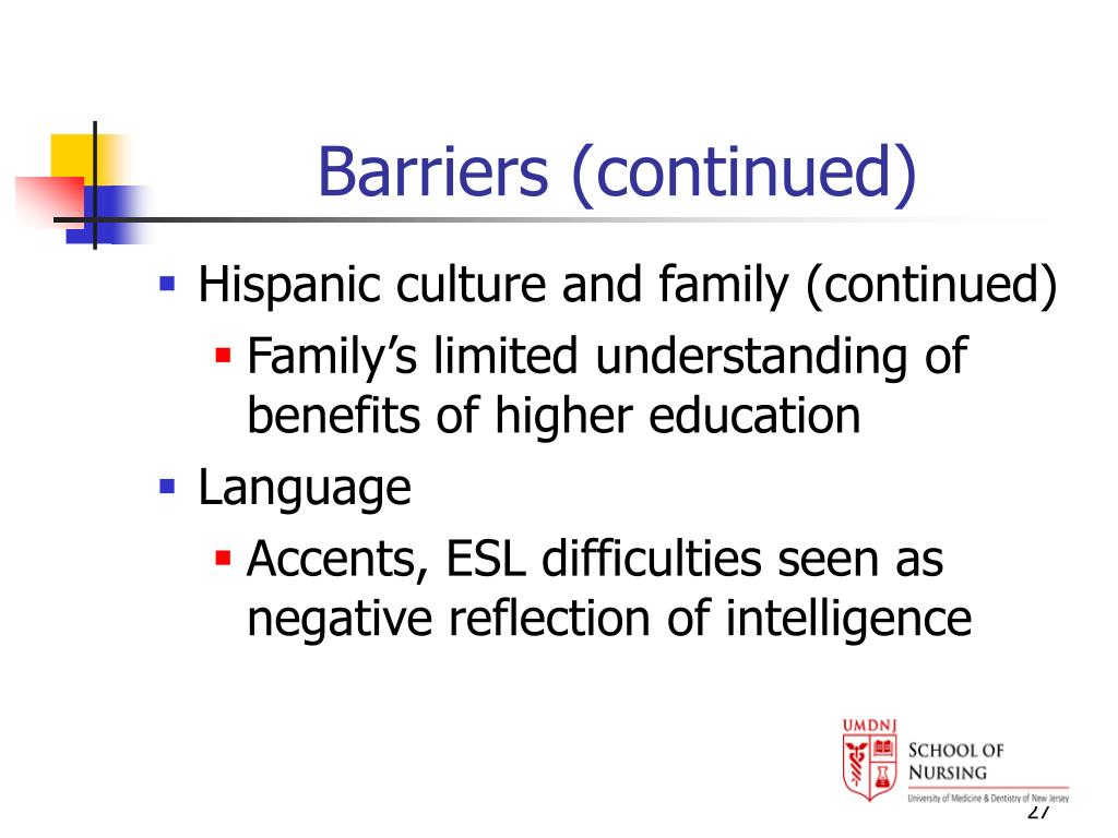 Barriers (continued)