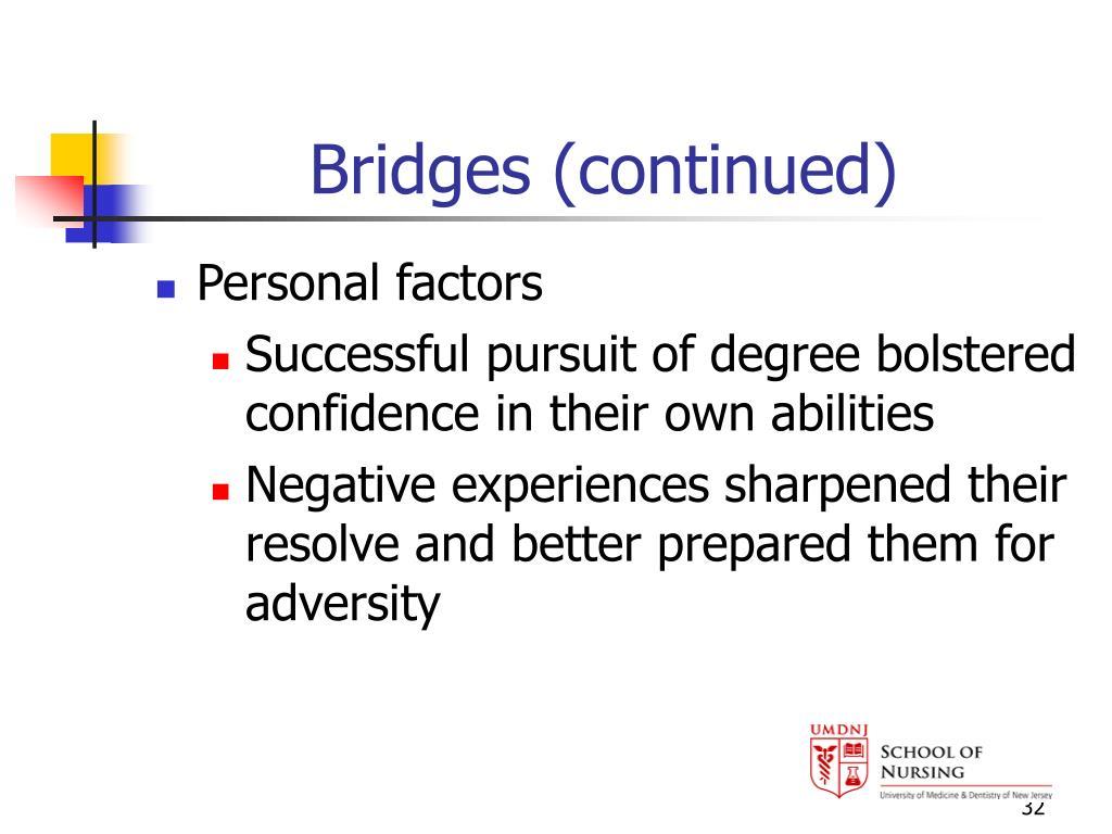 Bridges (continued)