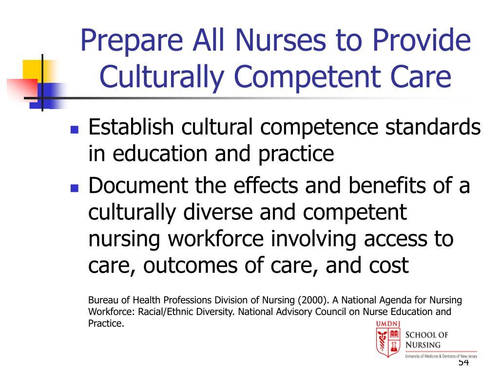 Prepare All Nurses to Provide Culturally Competent Care