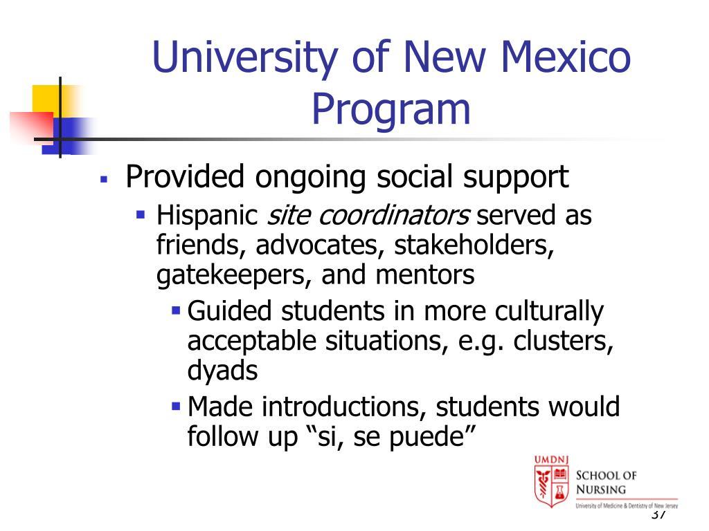 University of New Mexico Program
