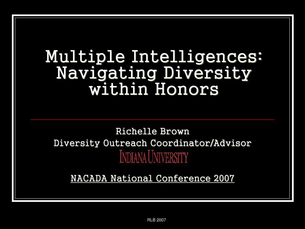 multiple intelligences navigating diversity within honors
