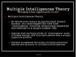 multiple intelligences theory bringing a fair opportunity to all