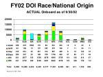 fy02 doi race national origin