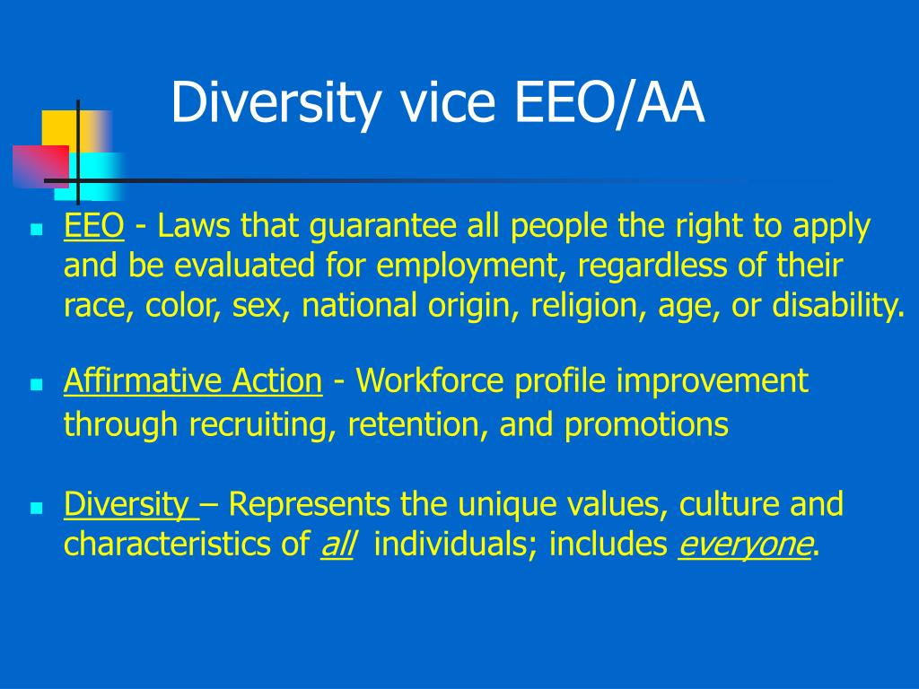 Diversity vice EEO/AA