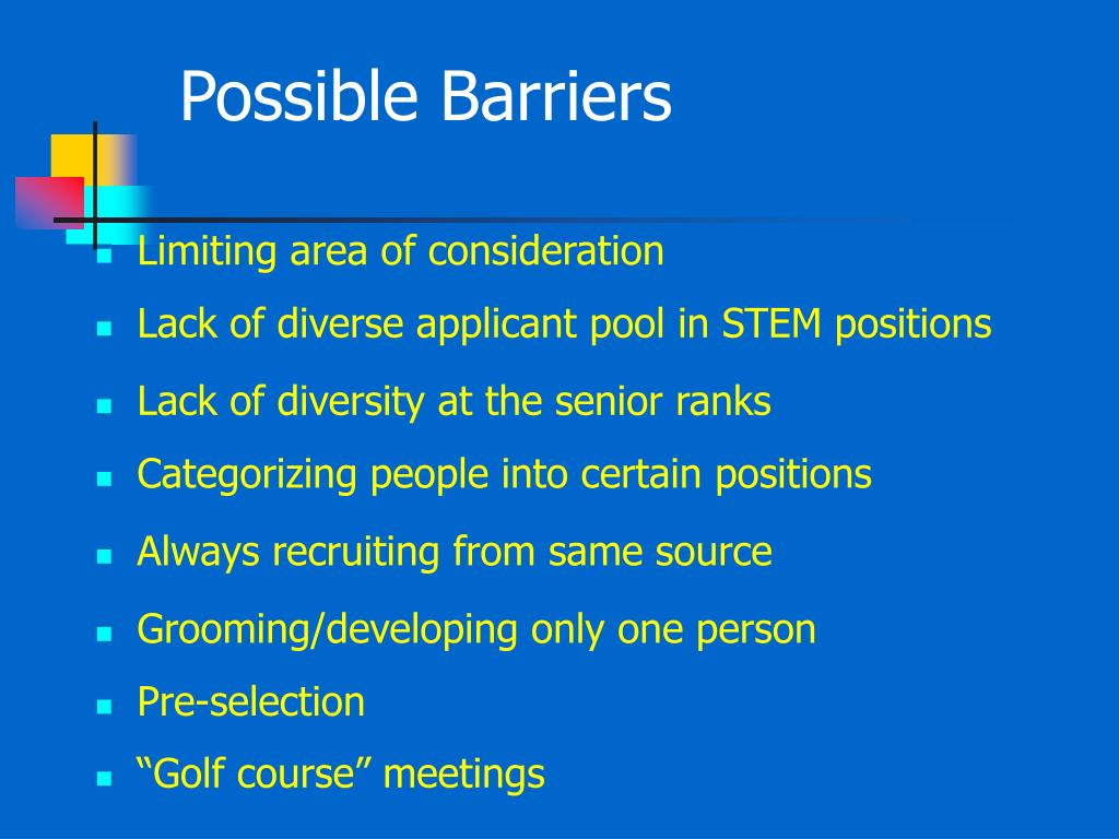 Possible Barriers