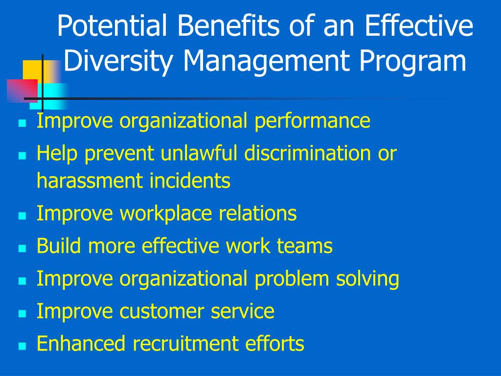 Potential Benefits of an Effective Diversity Management Program
