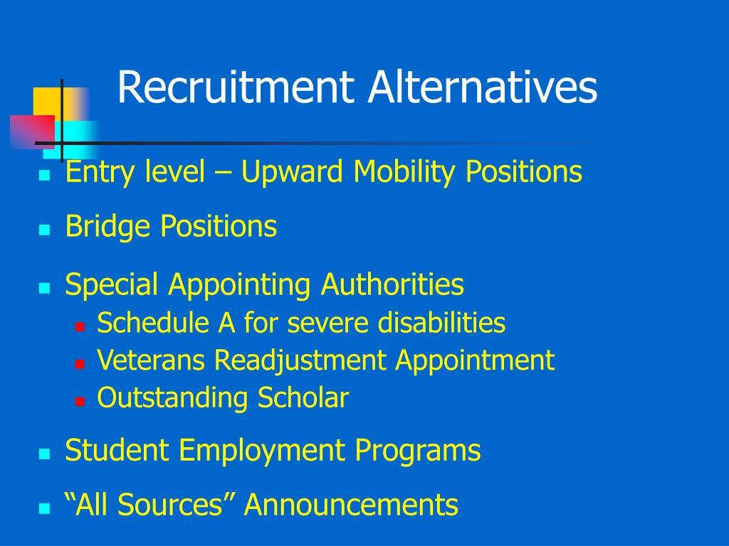 Recruitment Alternatives